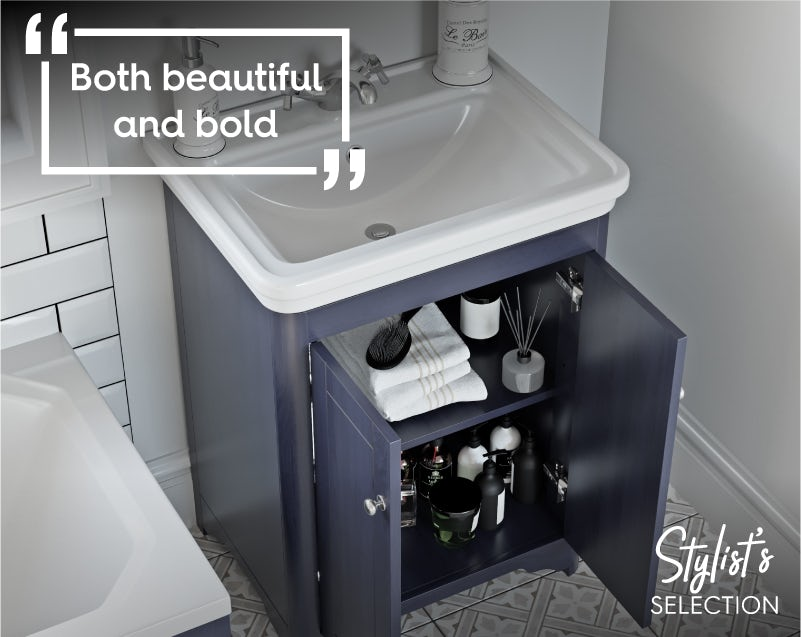 The Bath Co. Beaumont sapphire blue vanity unit