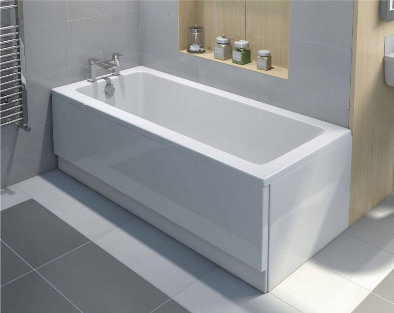 A modern straight bath
