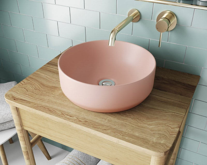 Mode Orion pink countertop basin 355mm