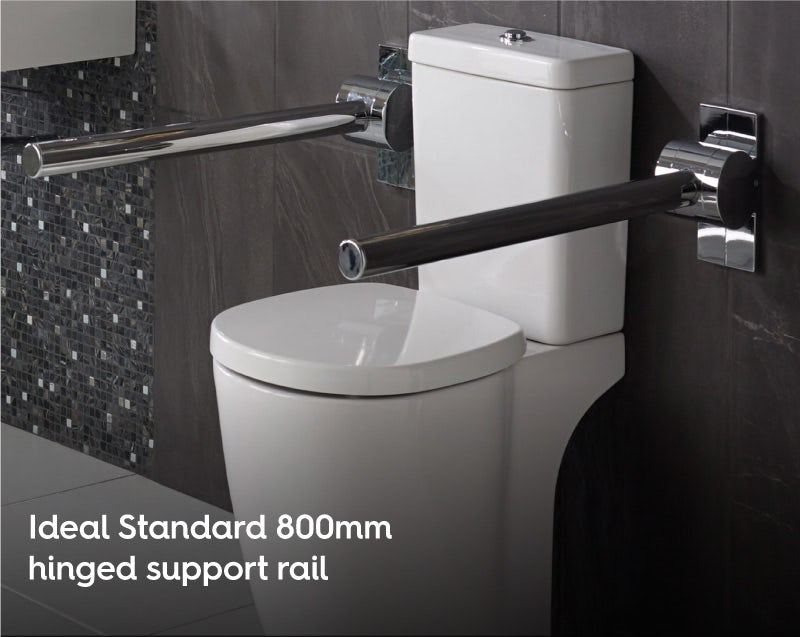 Ideal Standard 800mm hinged support rail