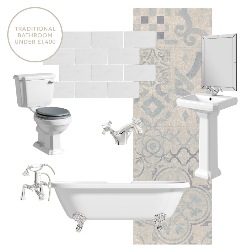 Stylish traditional bathroom for under £1,400
