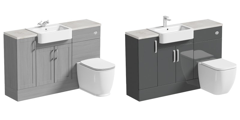 Contemporary v traditional fitted bathroom furniture