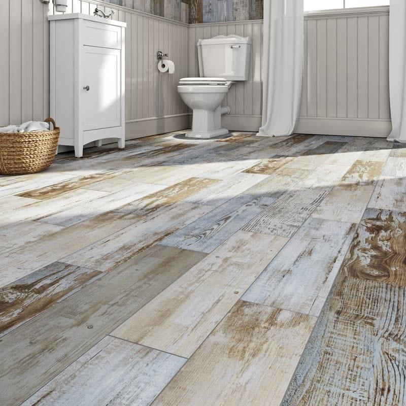 Basswood distressed wood floor tiles