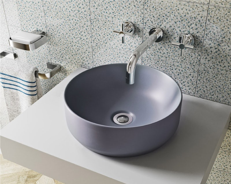 Mode Orion lilac grey countertop basin 355mm