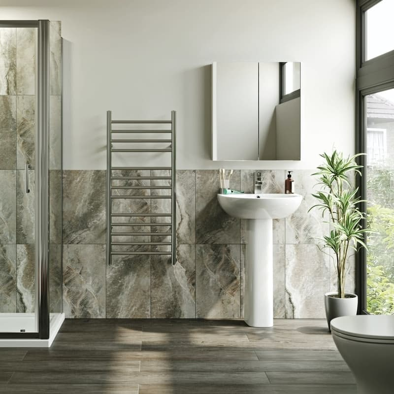 Electric heated towel rails at Victoria Plum