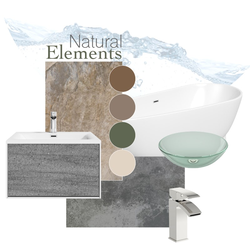 Natural elements mood board