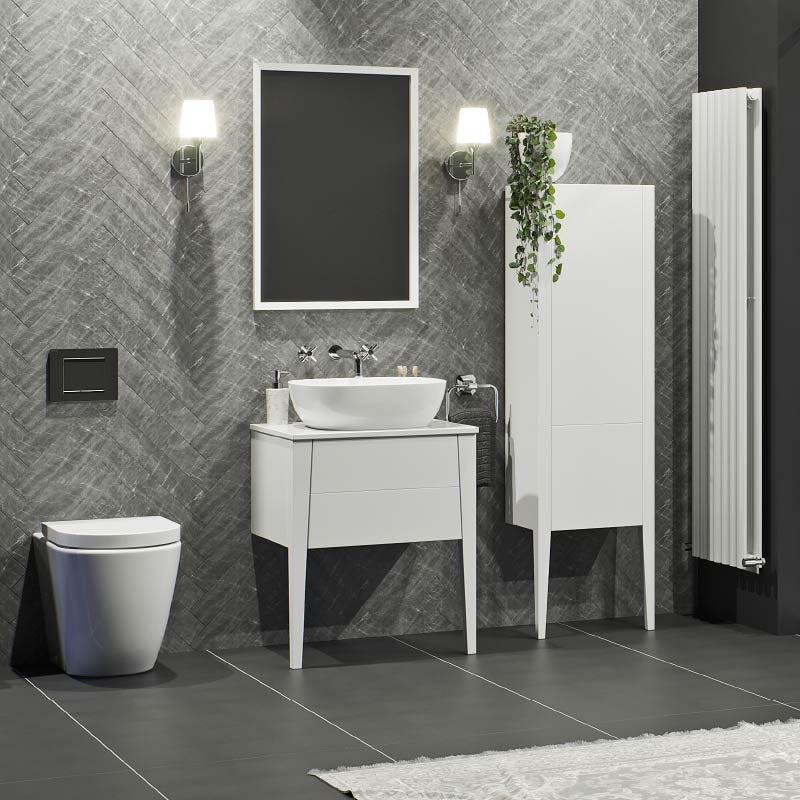 Hale white bathroom furniture range