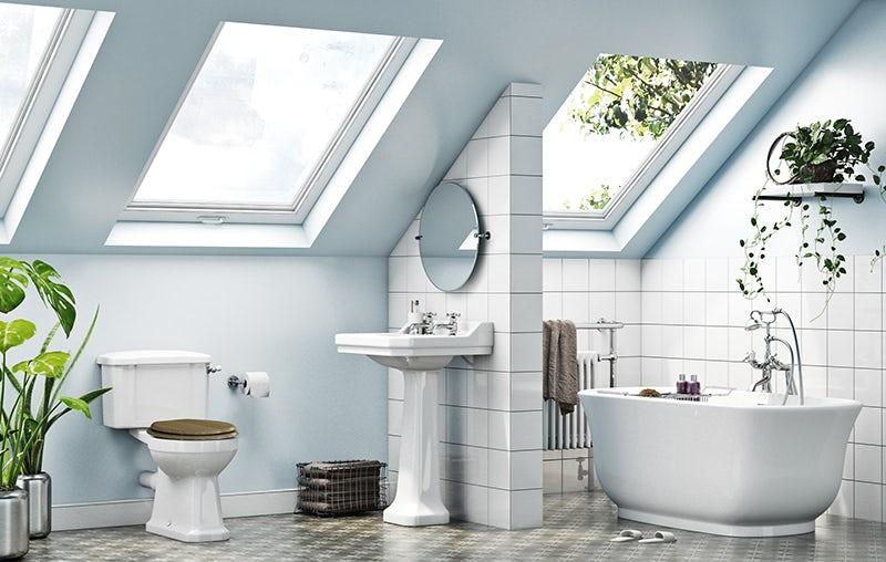 Camberley complete oak effect freestanding bath suite