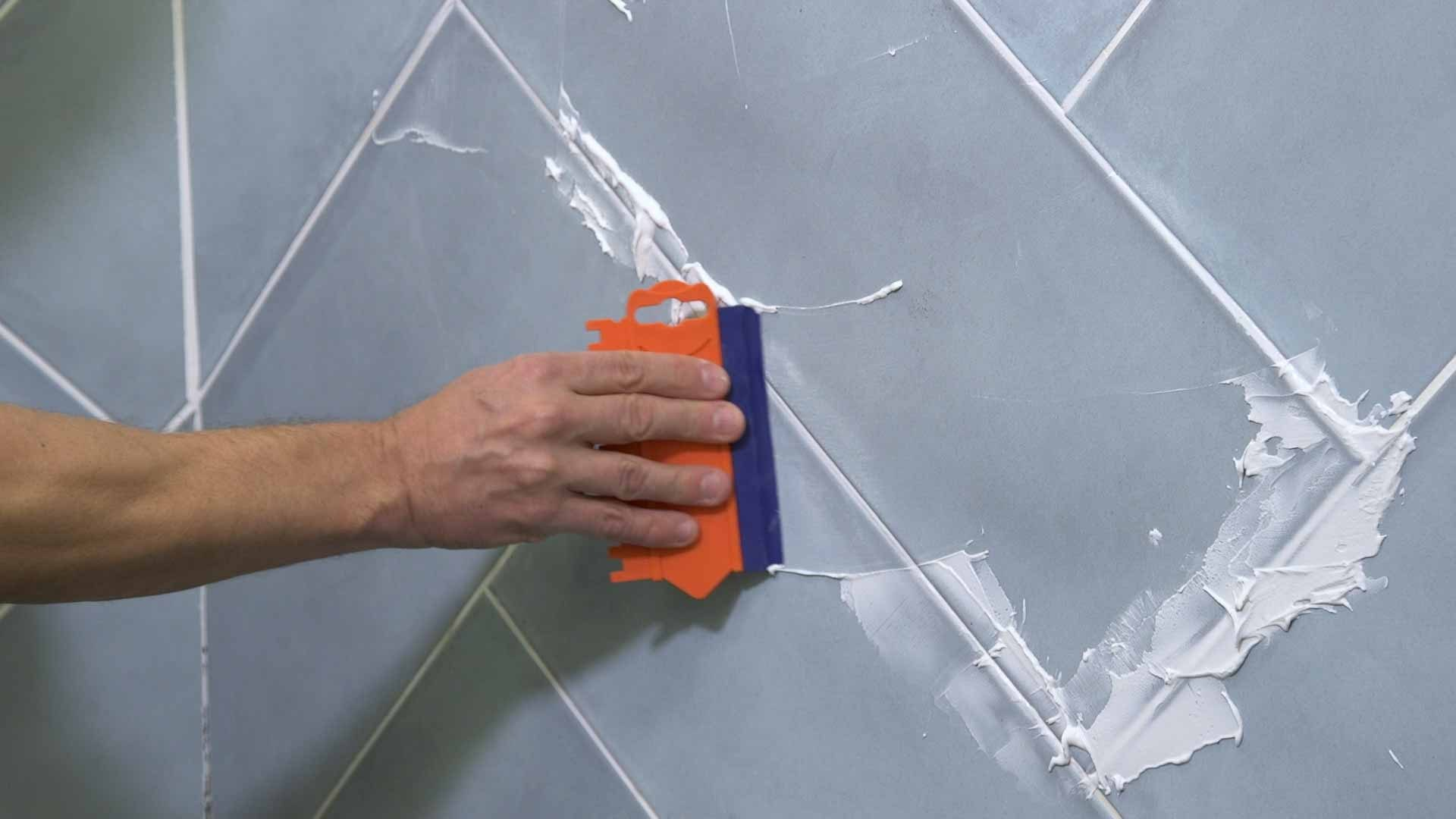 how to regrout tiles 5