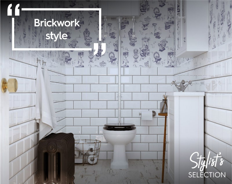 British Ceramic Metro Tiles in white