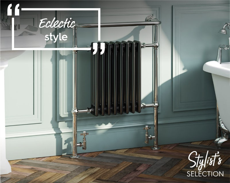 The Bath Co. Dulwich black traditional radiator