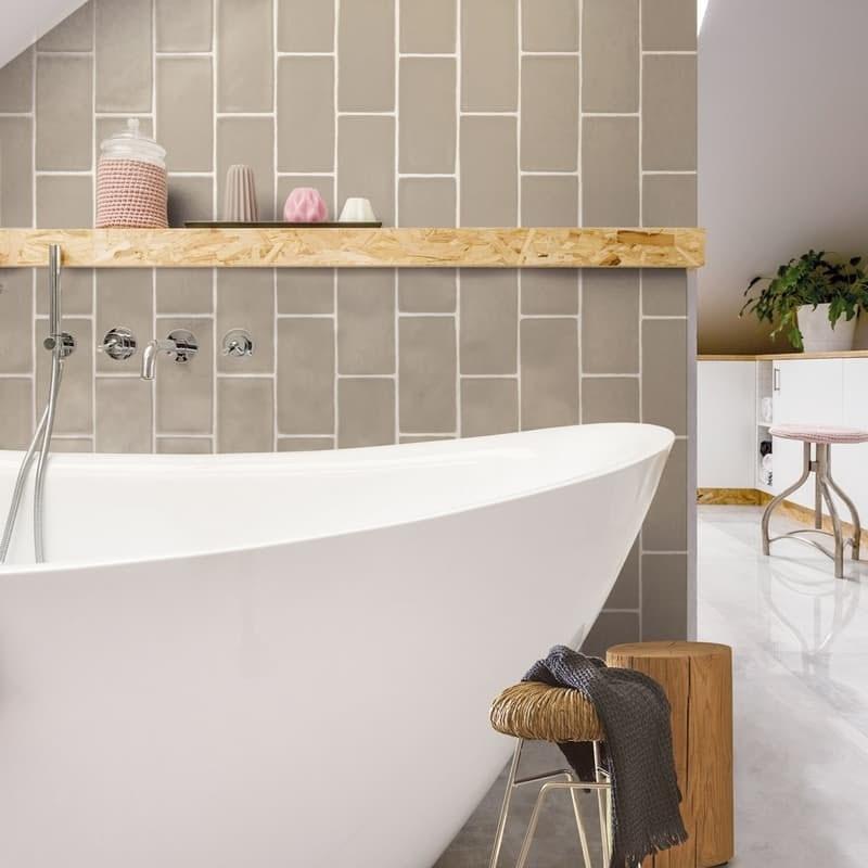 Annecy mink matt wall tile 75mm x 150mm