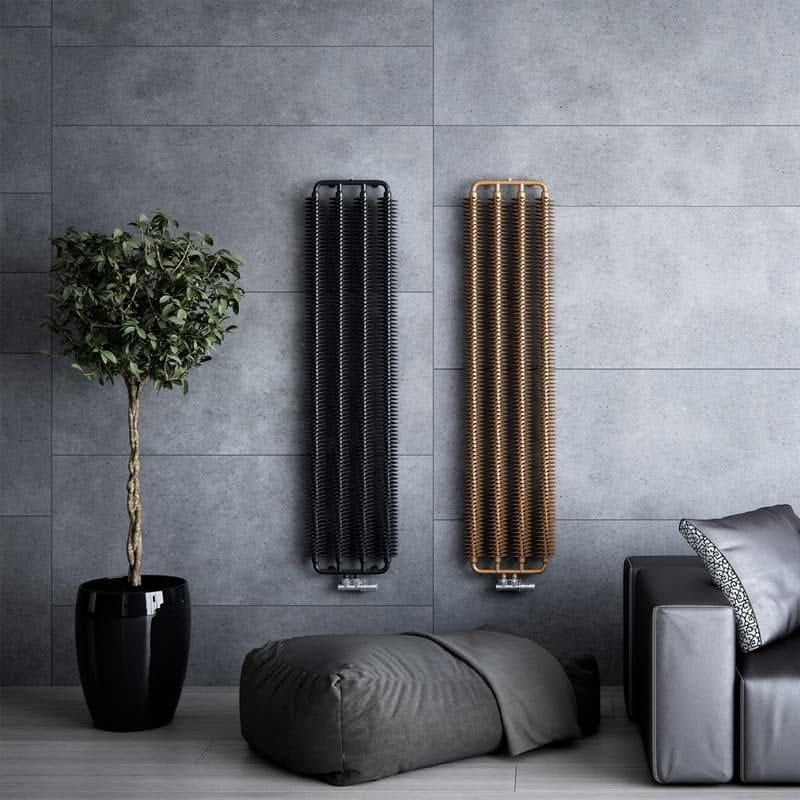 Terma Ribbon V bright copper designer radiator 1720 x 290