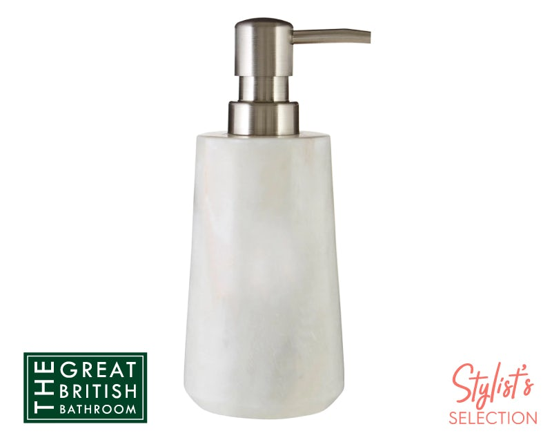 Accents White marble soap dispenser