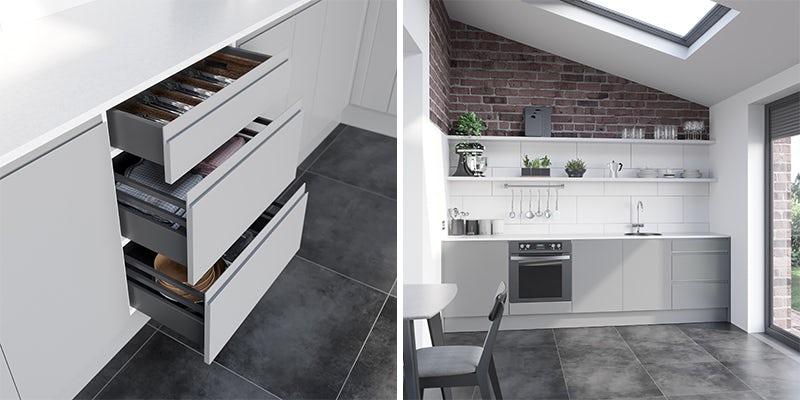 Chicago light grey kitchen furniture range