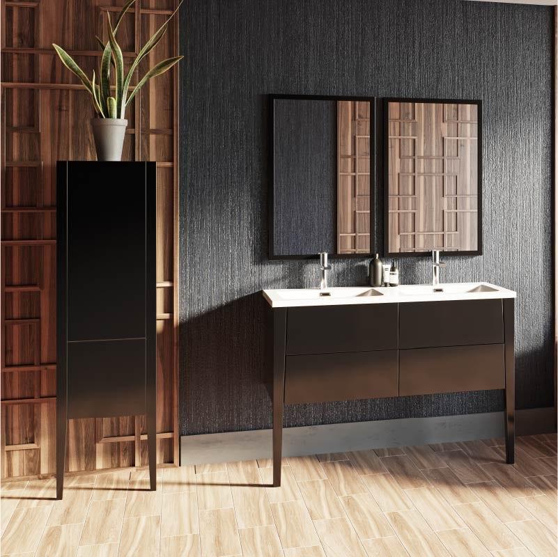 Hale grey gloss bathroom furniture