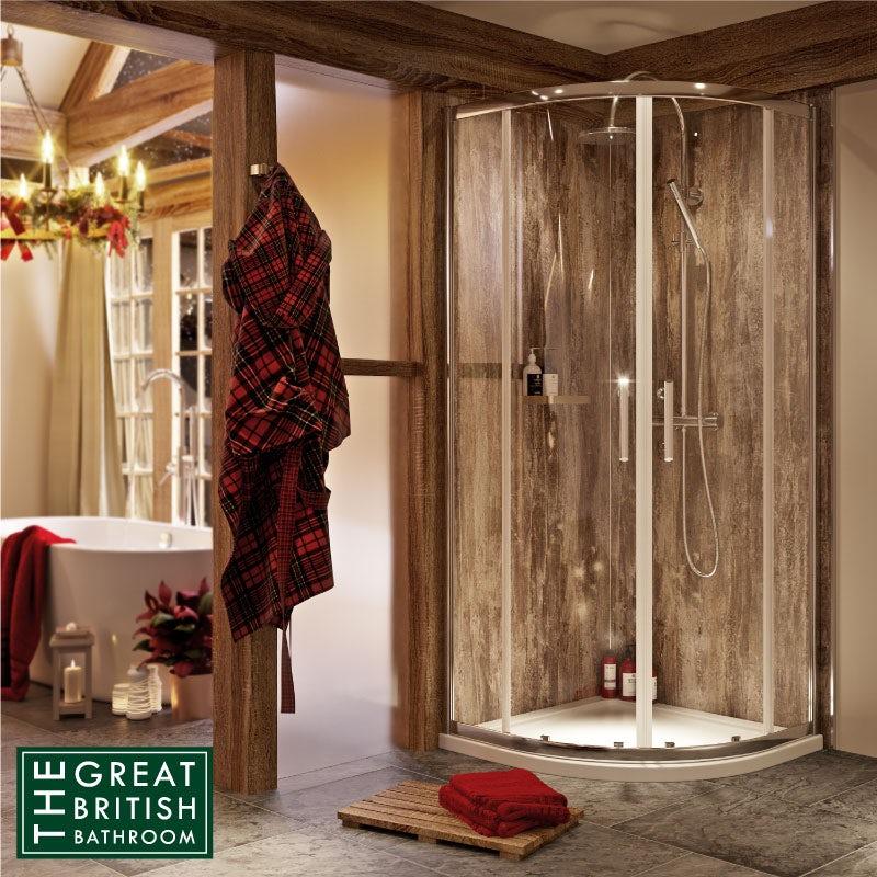 Orchard 6mm sliding quadrant shower enclosure