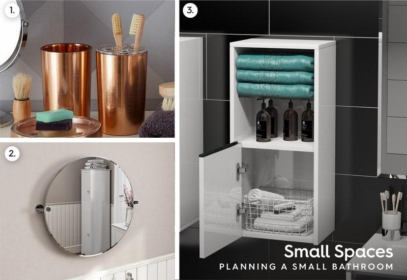 Small bathroom accessory tips