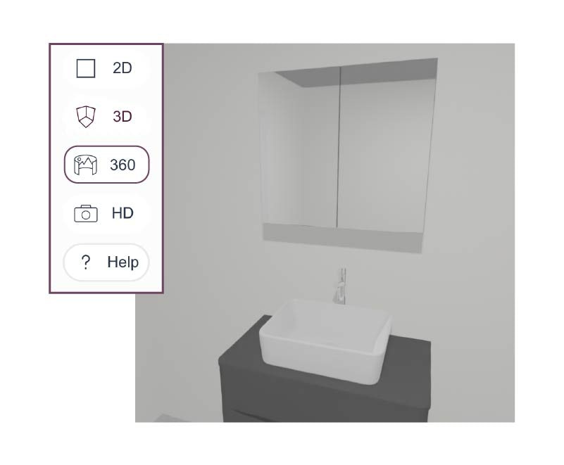 Create a 360 degree view of your bathroom
