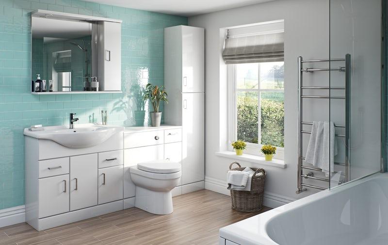 Stylish storage family bathroom