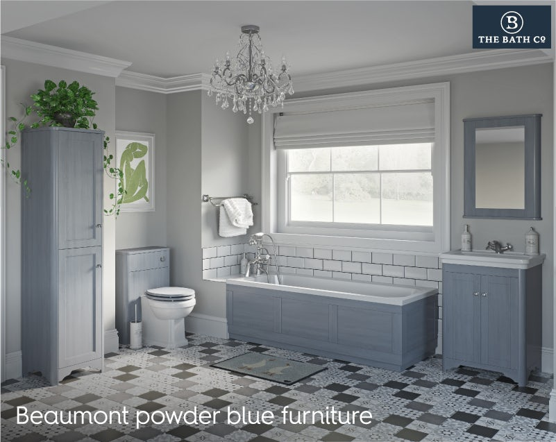 Beaumont powder blue furniture