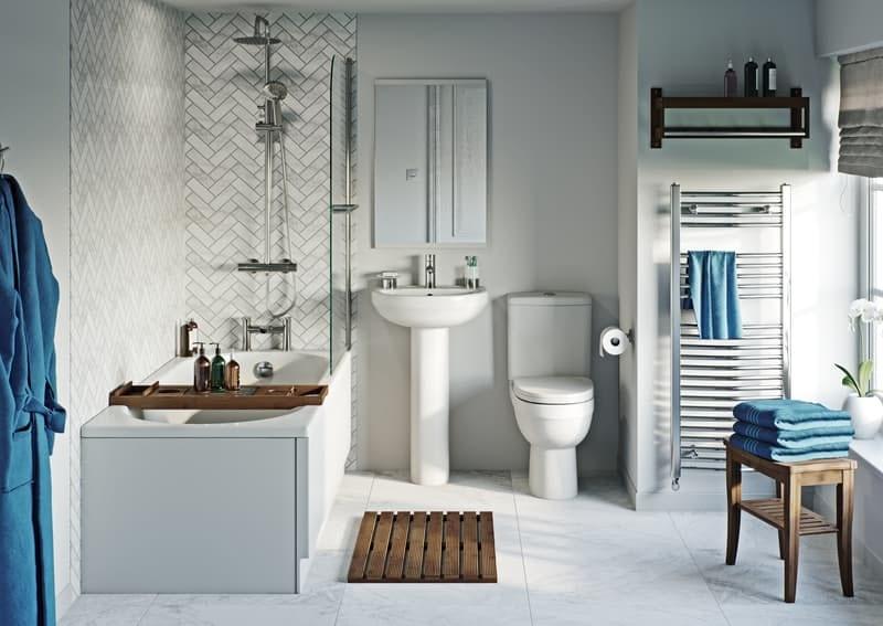 Neutral style family bathroom