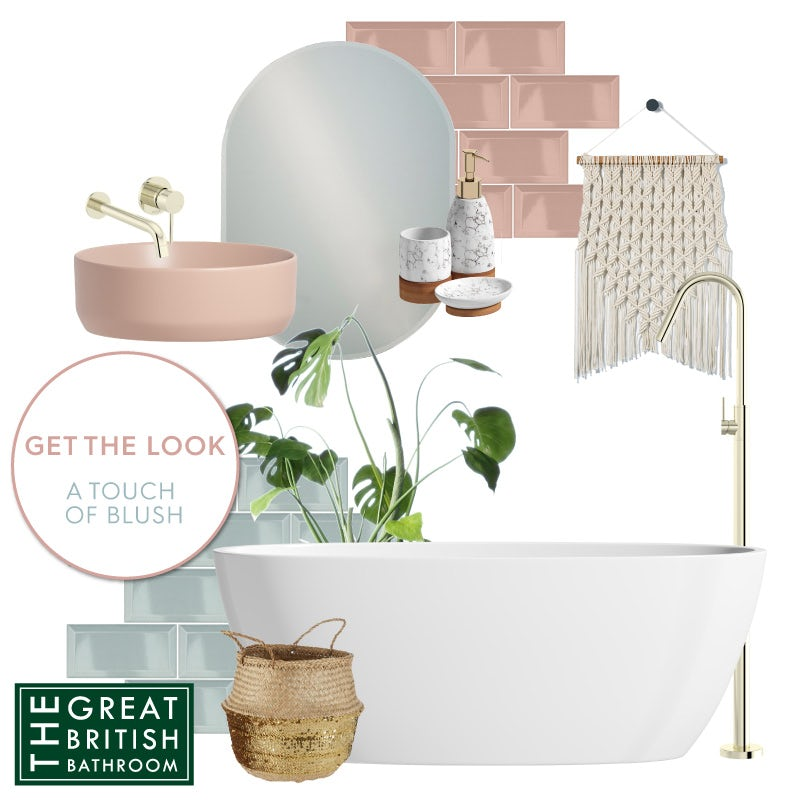 A Touch of Blush mood board