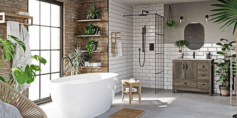 Tropical Spa bathroom from Victoria Plum