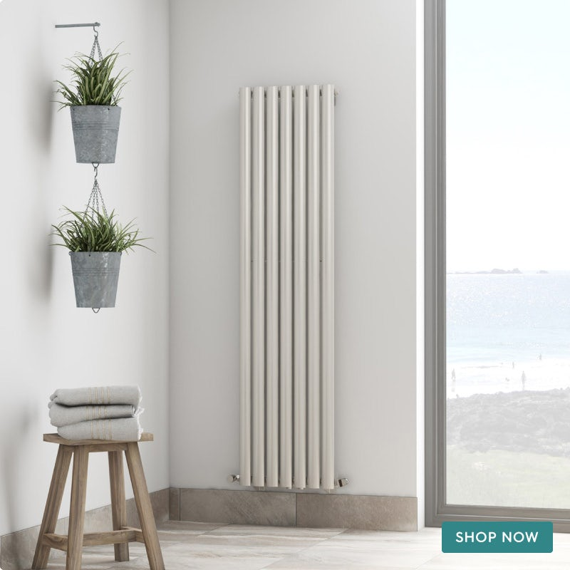 The Heating Co. Tate white single vertical radiator 1600 x 406