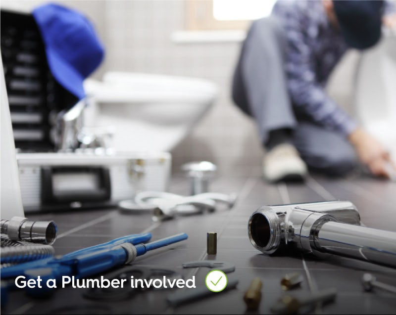Get a plumber involved