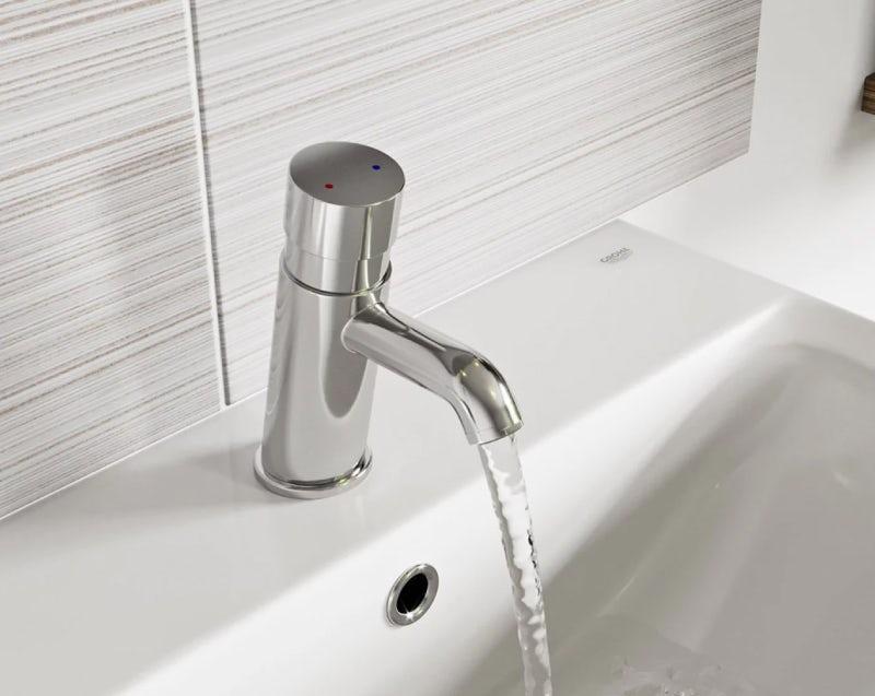 Kirke Non-concussive temperature control basin mixer tap