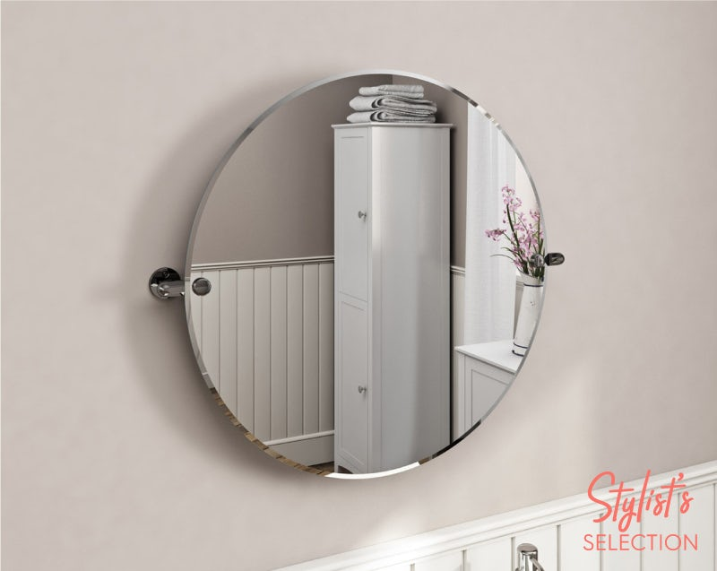The Bath Co. Traditional round pivot bathroom mirror