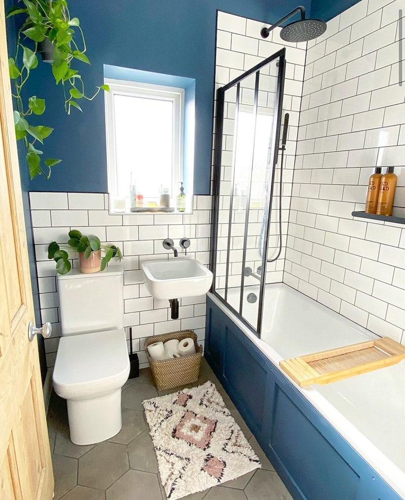 A beautiful Modern Vintage bathroom by Victoria Plum customer @little_edwardian_semi