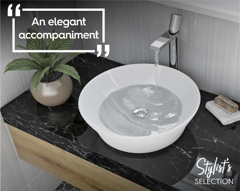 Mode Bowery round thin edge countertop basin