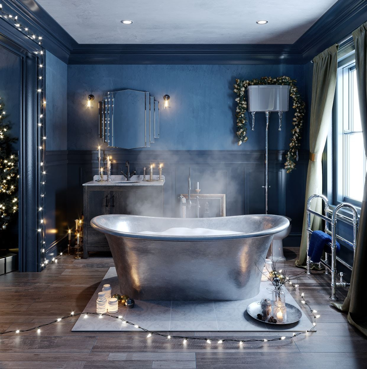 Enchanted Winter family bathroom
