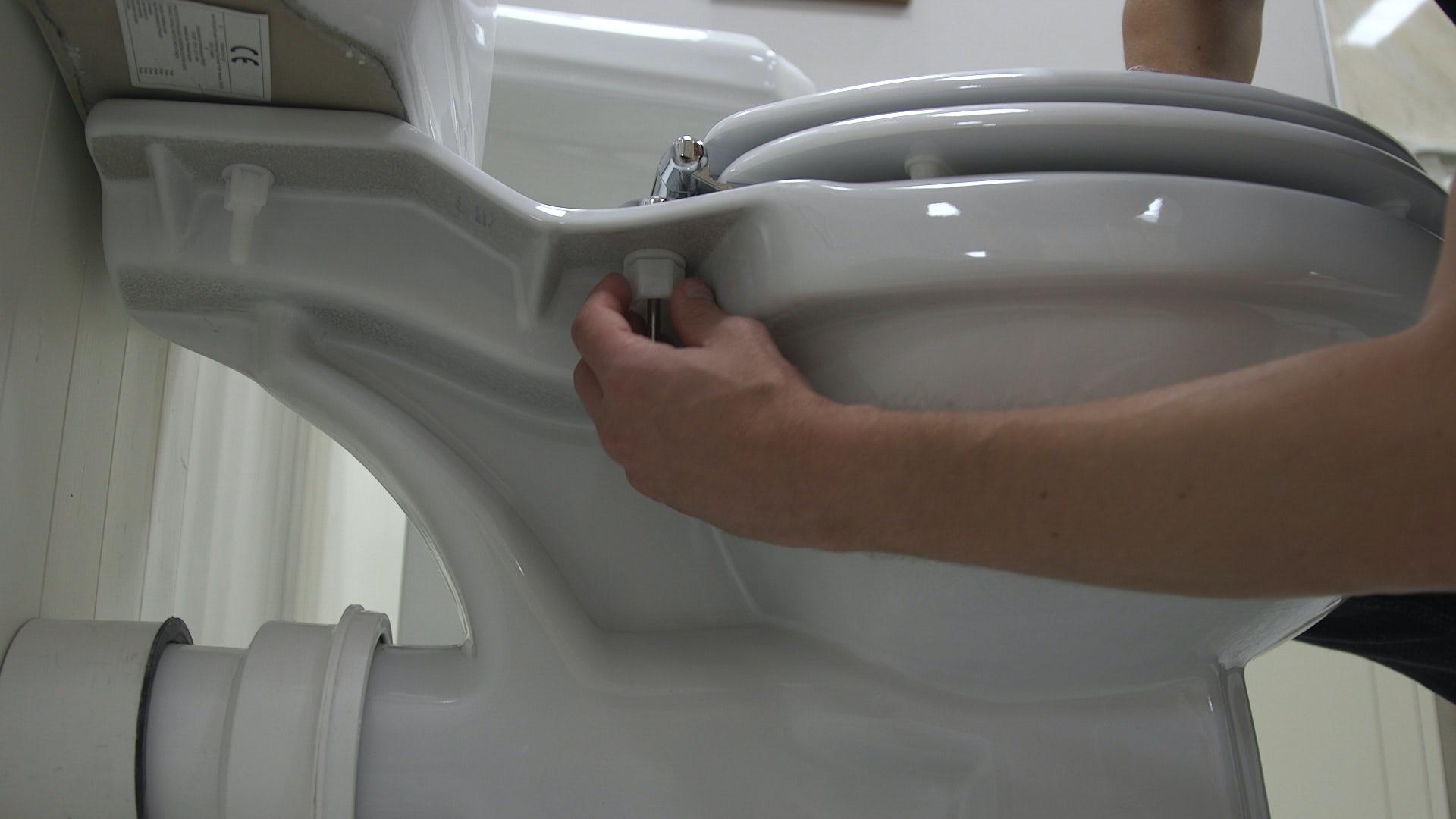 Unscrew old toilet seat