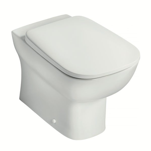 Ideal Standard Studio Echo cloakroom suite with back to wall toilet and full pedestal basin 450mm