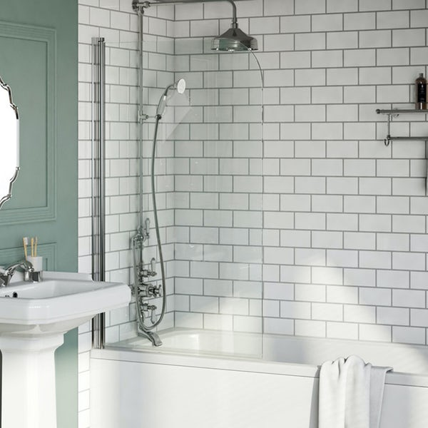Orchard 6mm rounded edge single bath screen