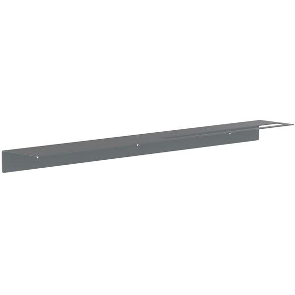 Accents Mono grey 800mm bathroom shelf