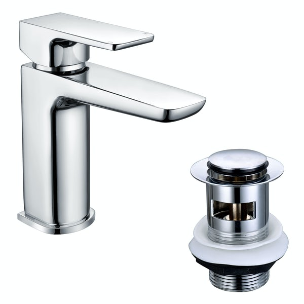 Mode Foster cloakroom chrome basin mixer tap with FREE waste