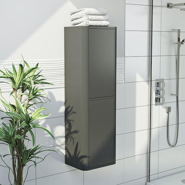 Mode Carter slate grey tall wall cabinet