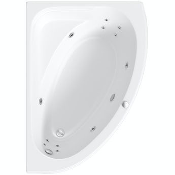 Mode offset corner right handed 12 jet whirlpool bath 1500mm