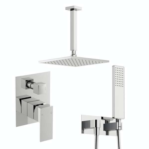 Orchard Square manual concealed mixer shower with diverter