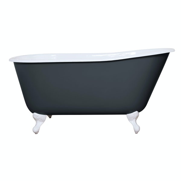 The Bath Co. Warwick province blue cast iron bath