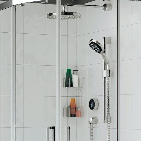 Mira Platinum dual rear fed digital shower pumped