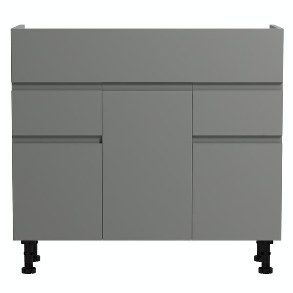 Orchard Wharfe slate grey floorstanding vanity unit 850mm