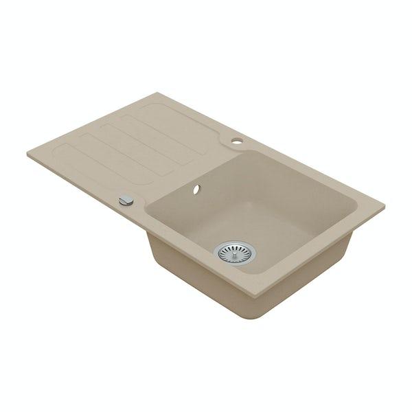 Schon Monte Sand 1.0 bowl reversible countertop kitchen sink
