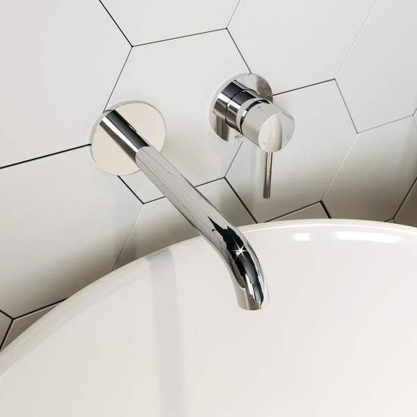 Mode Spencer round wall mounted bath mixer tap