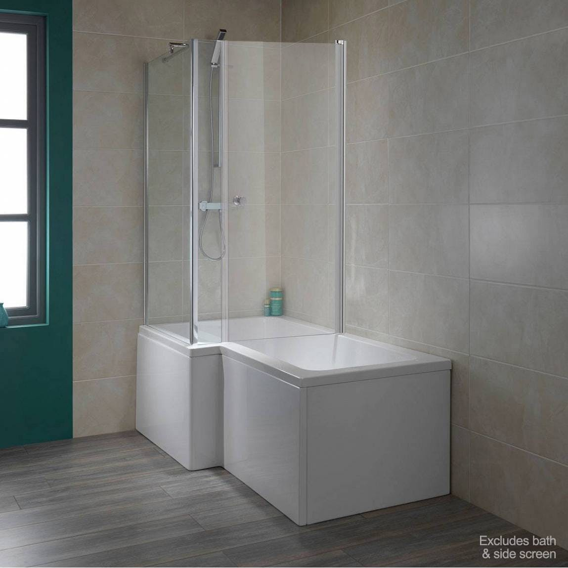 6mm Over Bath Shower Enclosure Door For Use With L Shaped Shower Bath Screens