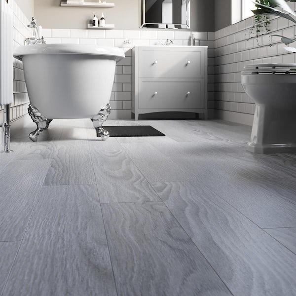 Haliburton silver Cedar laminate flooring 8mm